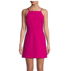 NWT French Connection Whisper Mini Dress Magenta 2